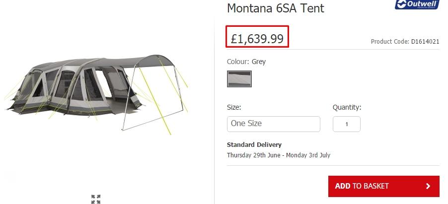 Montana 6SA Tent_アウトウェル‗テント_海外通販_個人輸入